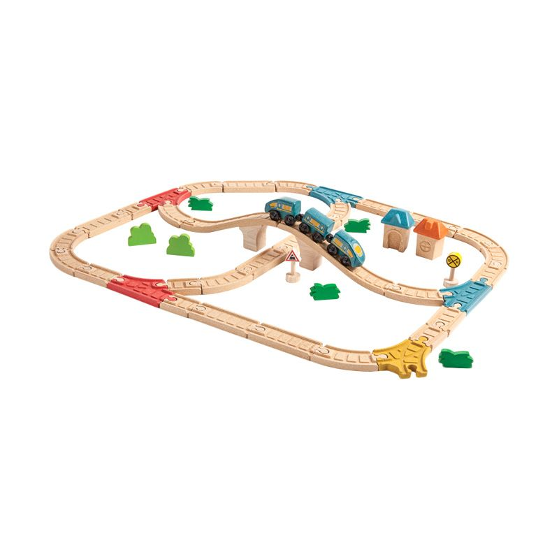 Plan Toys Railway Set PT6606 Mainan Anak