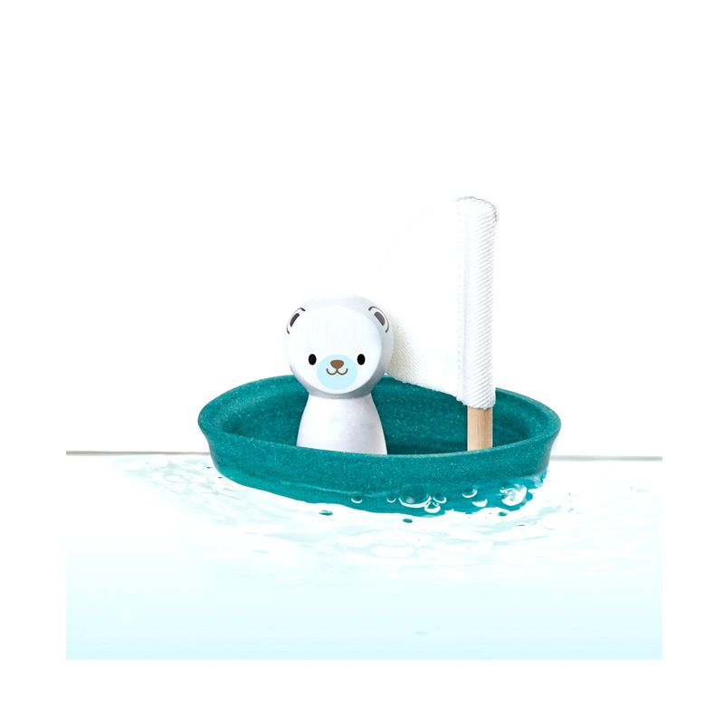 Plan Toys Sailing Boat Polar Bear PT5712 Mainan Anak