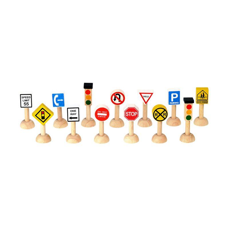 Plan Toys Set Of Traffic Signs & Lights PT6010 Mainan Anak