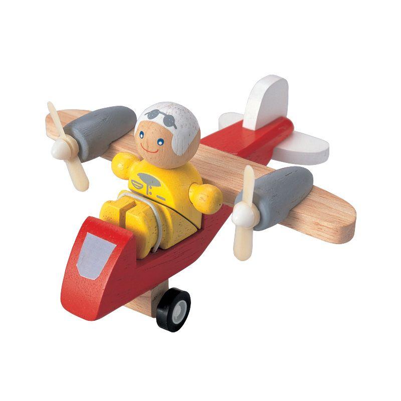 Plan Toys Turboprop Airplane With Pilot PT6046 Mainan Anak