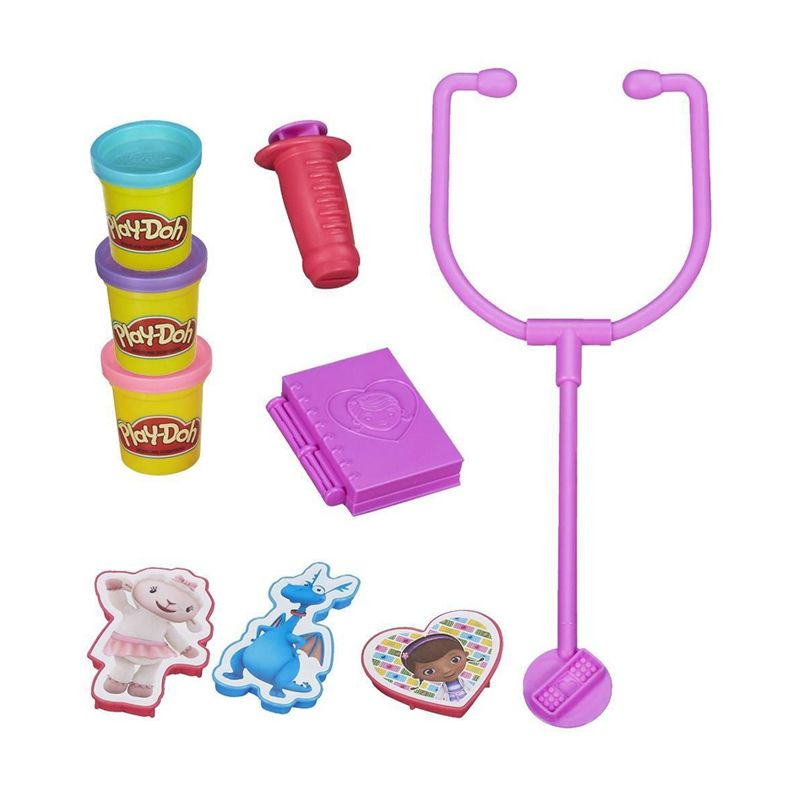 PlayDoh Disney Doctor Kit Featuring Doc McStuffins A6077 Mainan Anak