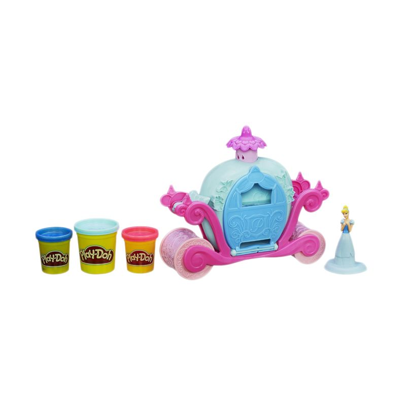 PlayDoh Disney Princess Magical Carriage Featuring Cinderella A6070 Mainan Anak