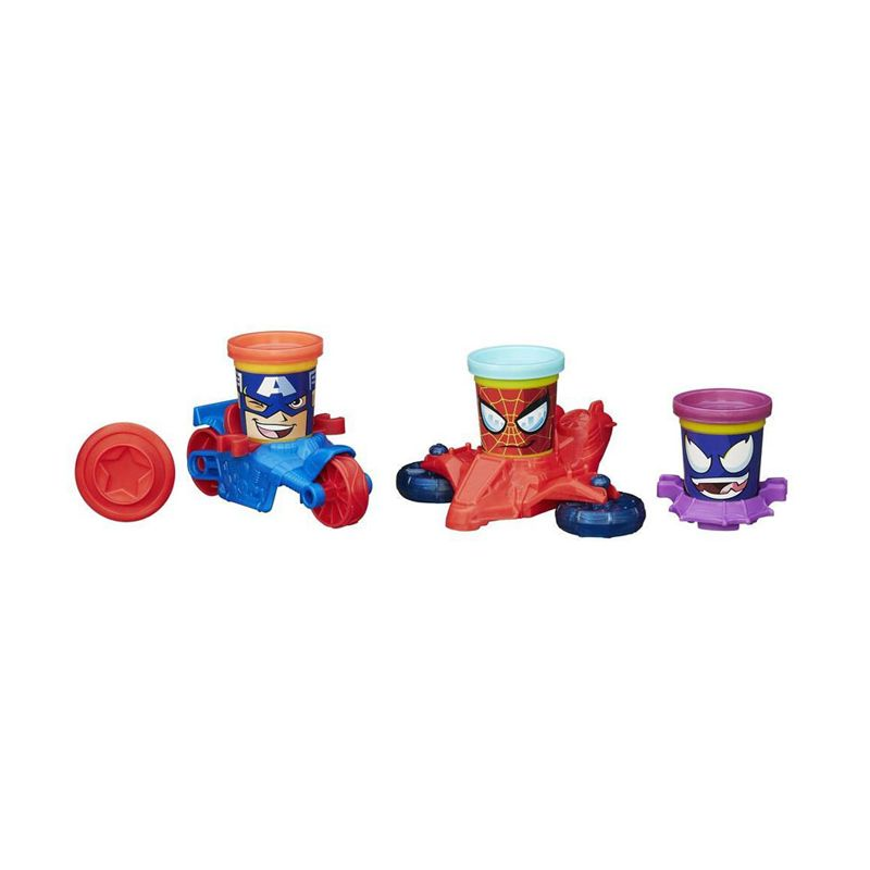 PlayDoh Marvel CanHeads Vehicles AS00 B0606 Mainan Anak