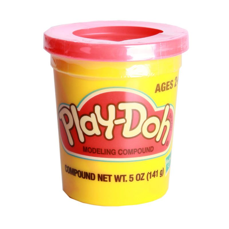 PlayDoh Single Can Bright 23870 Red Mainan Anak