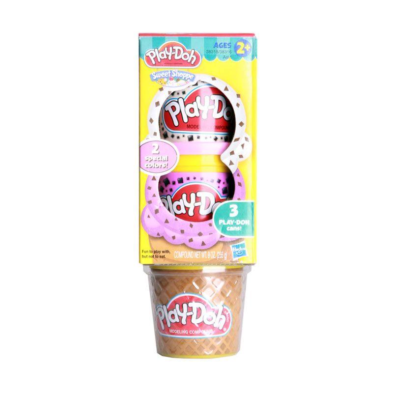PlayDoh Sweet Shoppe Cone Ice Cream A38318 Mainan Anak