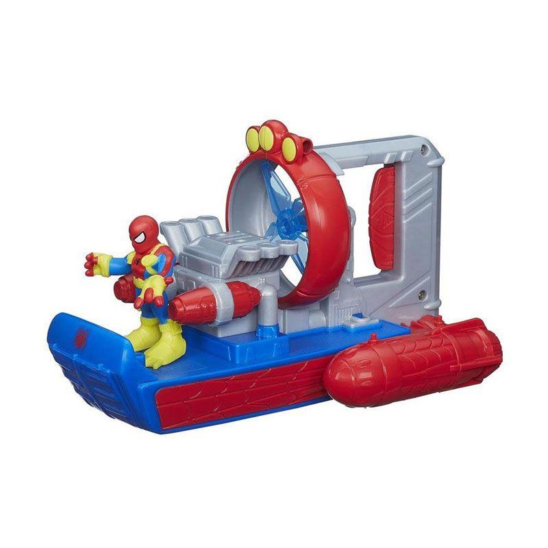 Playskool Heroes Marvel Super Hero Adventures Web Splash Spider Boat A8626 Mainan Anak