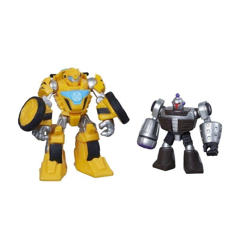 Playskool Heroes Transformers Rescue Bots Bumblebee & Morbot A8236 Mainan Anak