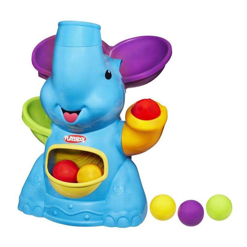 Playskool Poppin Park Elefun Busy Ball Popper Blue 31943 Mainan Anak