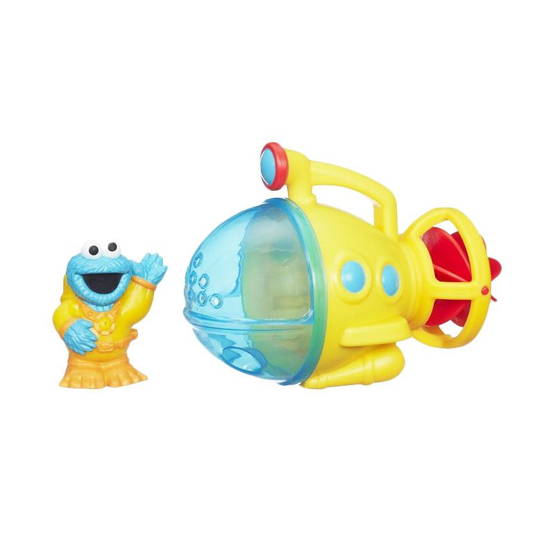 Playskool Sesame Street Cookie Monster Bath Submarine A8392 Mainan Anak