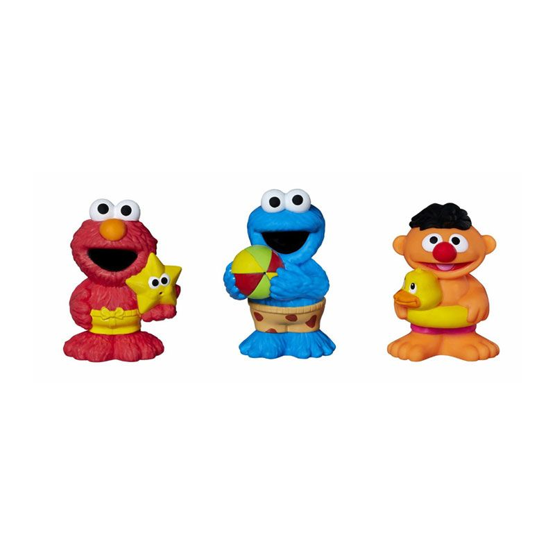 Playskool Sesame Street Figures Bath Squirters A7252 Mainan Anak
