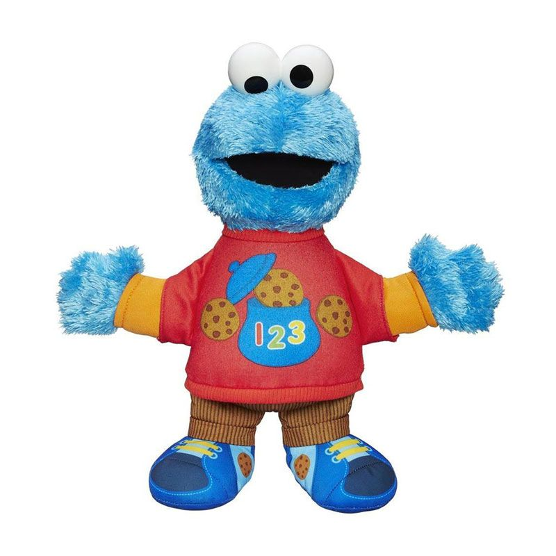 Playskool Sesame Street Plush Talking 123 Cookie Monster A7285 Mainan Anak