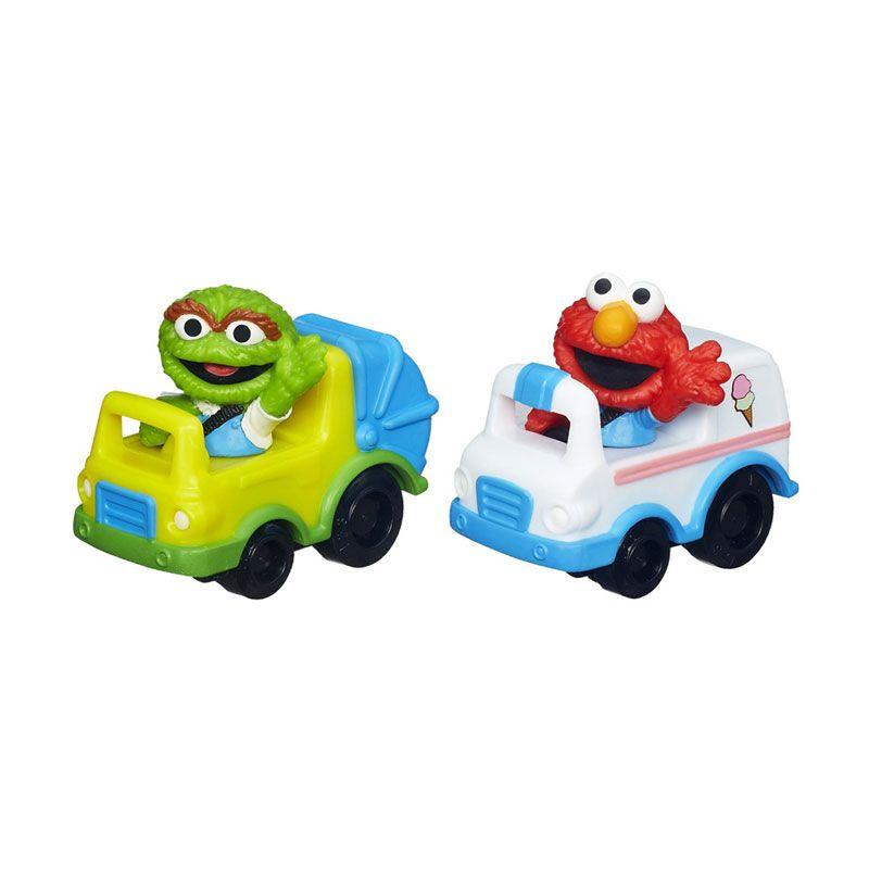 Playskool Sesame Street Racers Elmo & Oscar A6116 Mainan Anak