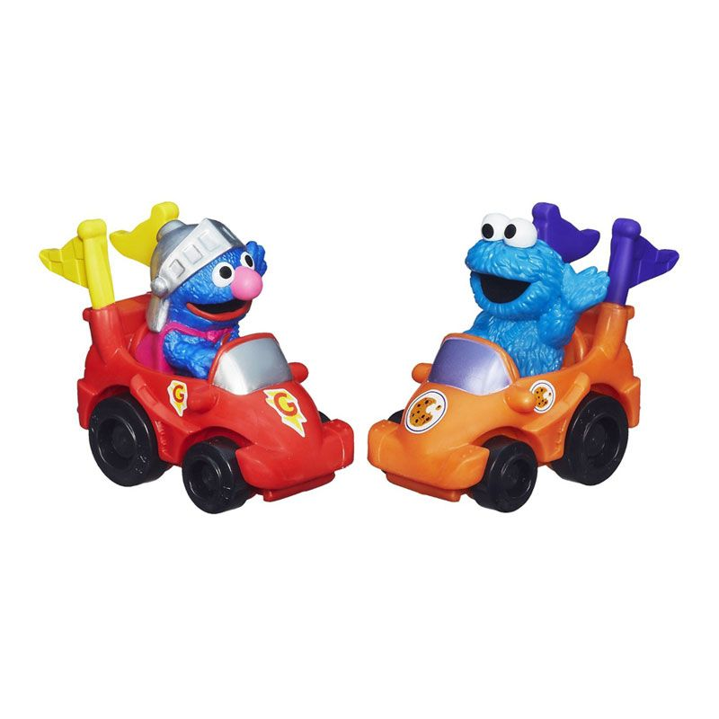 Playskool Sesame Street Racers Super Groover & Cookie Monster A4202 Mainan Anak