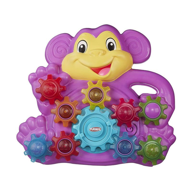 Playskool Stack N Spin Monkey Gears A7390 Mainan Anak
