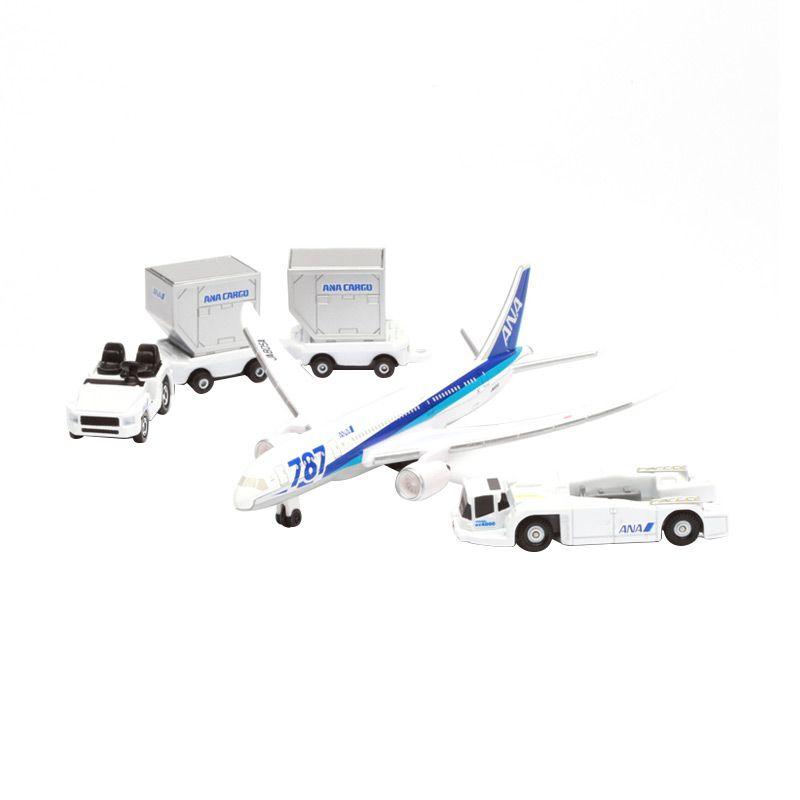 Tomica ANA 787 Airport Set White Diecast