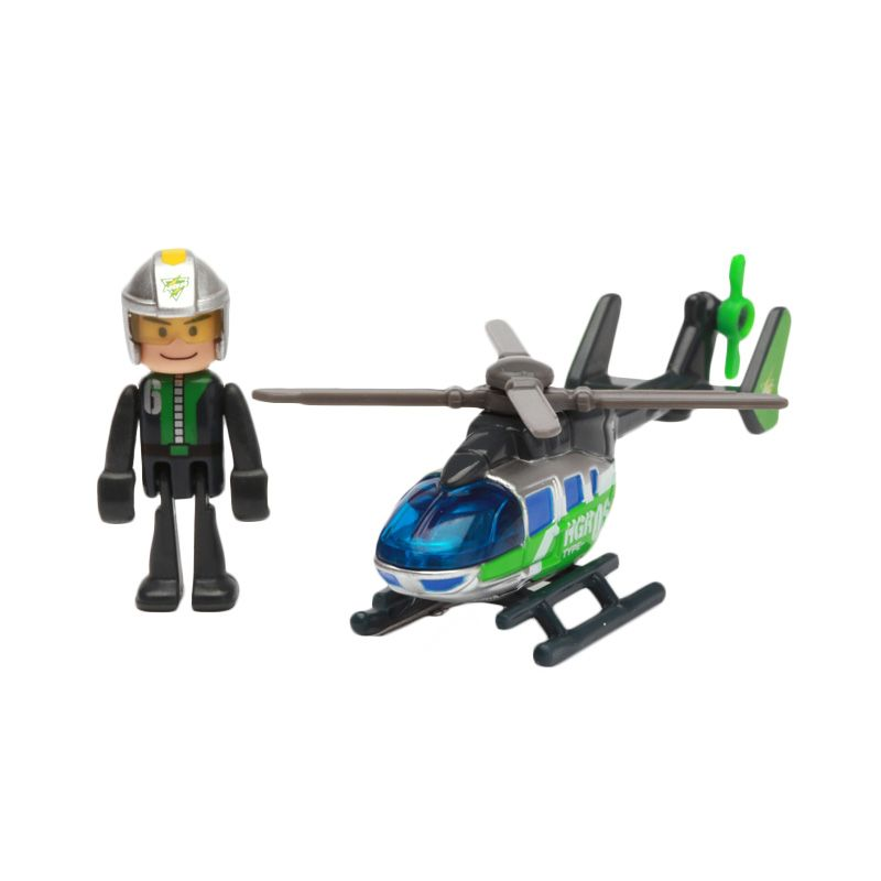 Tomica HGR 06 Alert Helicopter Green Diecast