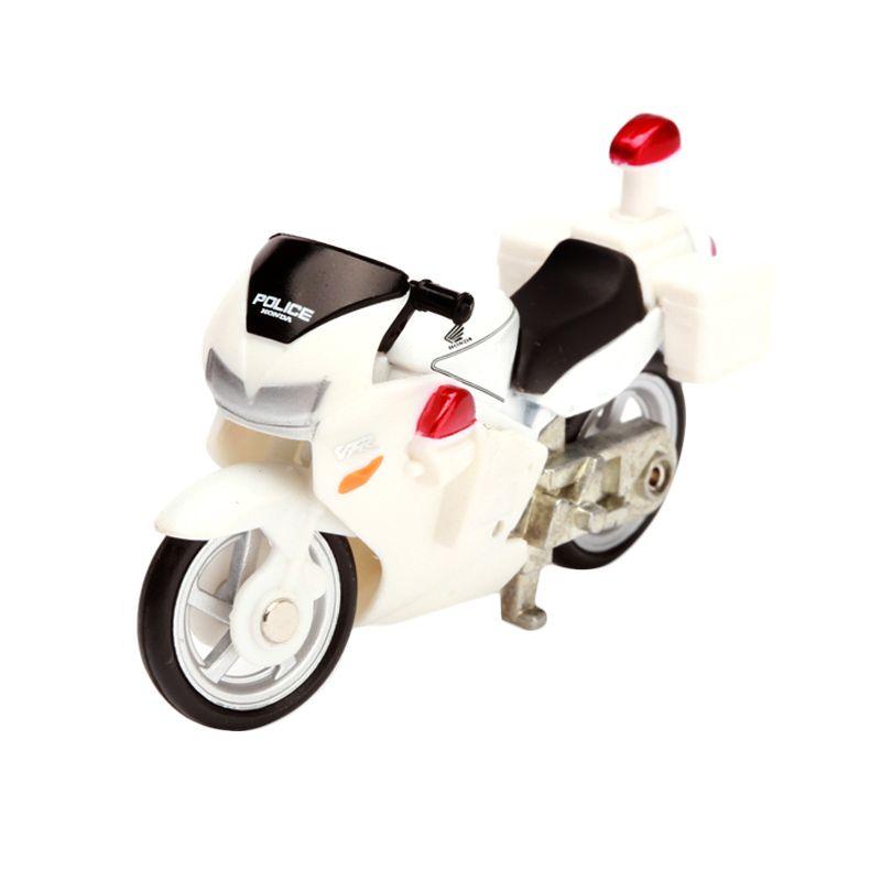 Tomica Honda VFR Police Bike White Diecast