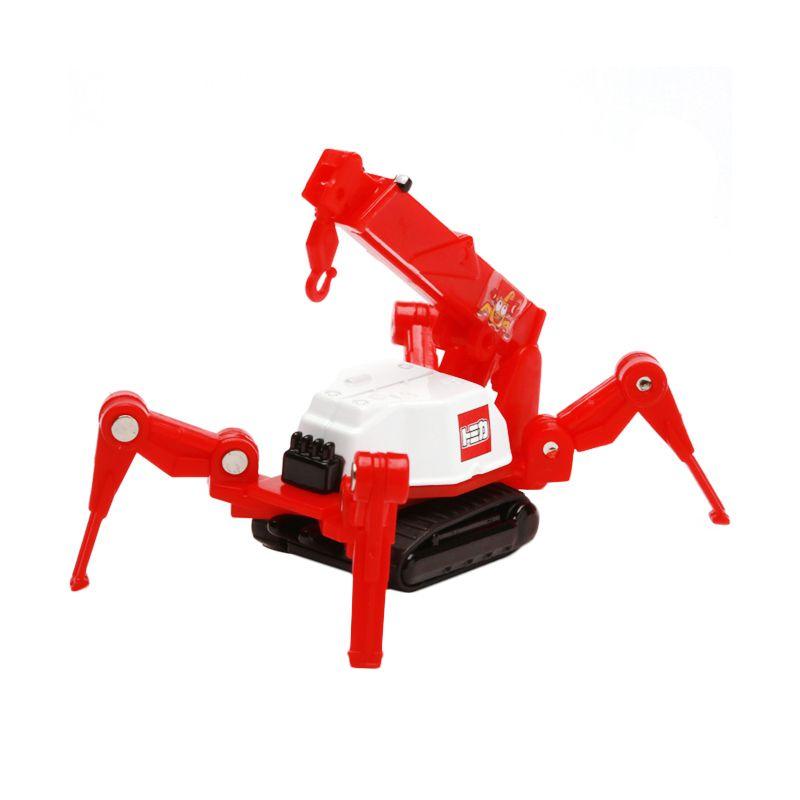 Tomica Maeda Seisakusho Crab Crane Red Diecast