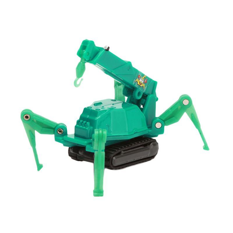 Tomica Maeda Seisakusho Mini Crawler Crane Green Diecast