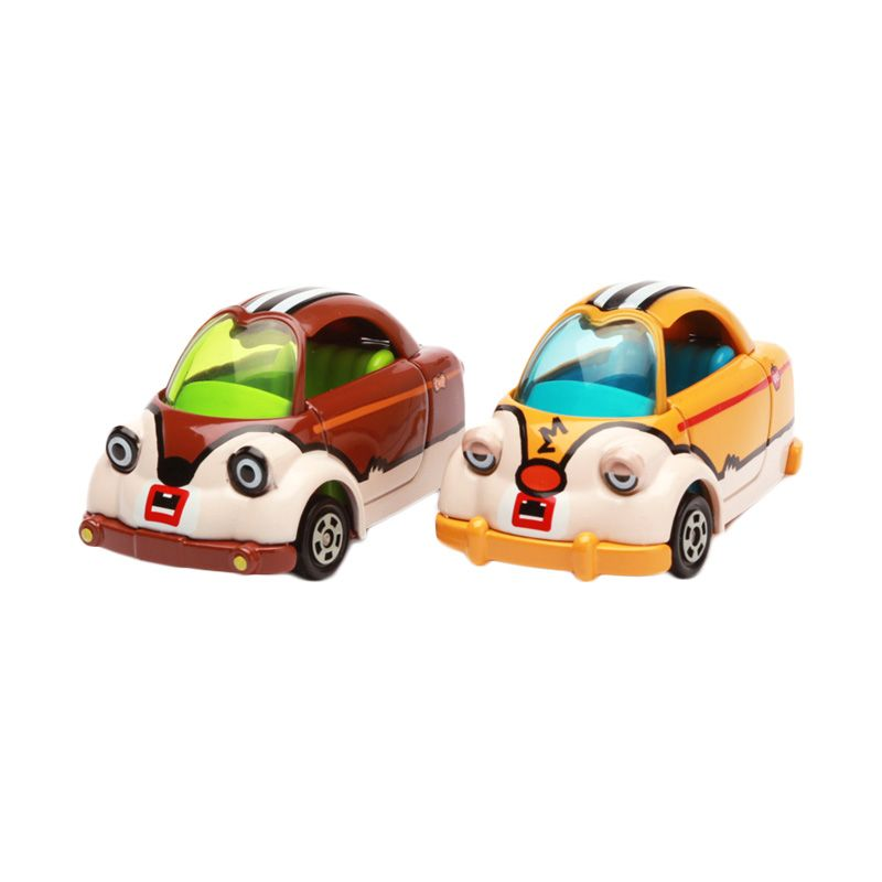 Tomica Mickey and Minnie Mouse Cubic Mouth Tap Set Brown Diecast
