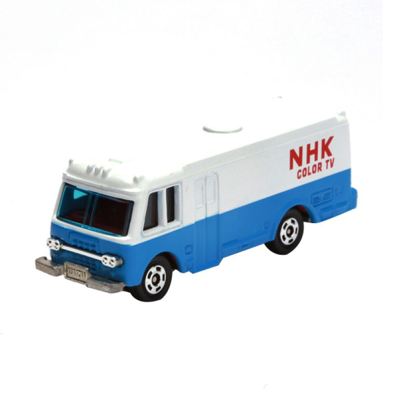 Tomica NHK Relay Truck White Diecast