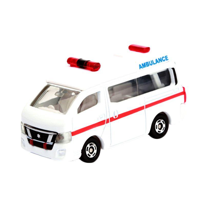 Tomica Nissan NV350 Caravan Ambulance White Diecast