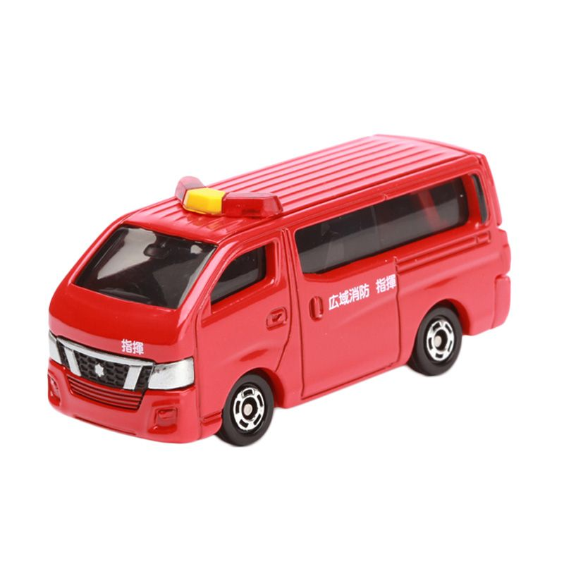 Tomica Nissan NV350 Caravan Fire Chieft Car Red Diecast