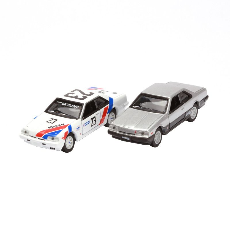 Tomica Nissan Skyline 2000RS Turbo White and Silver Diecast [2 Pcs]