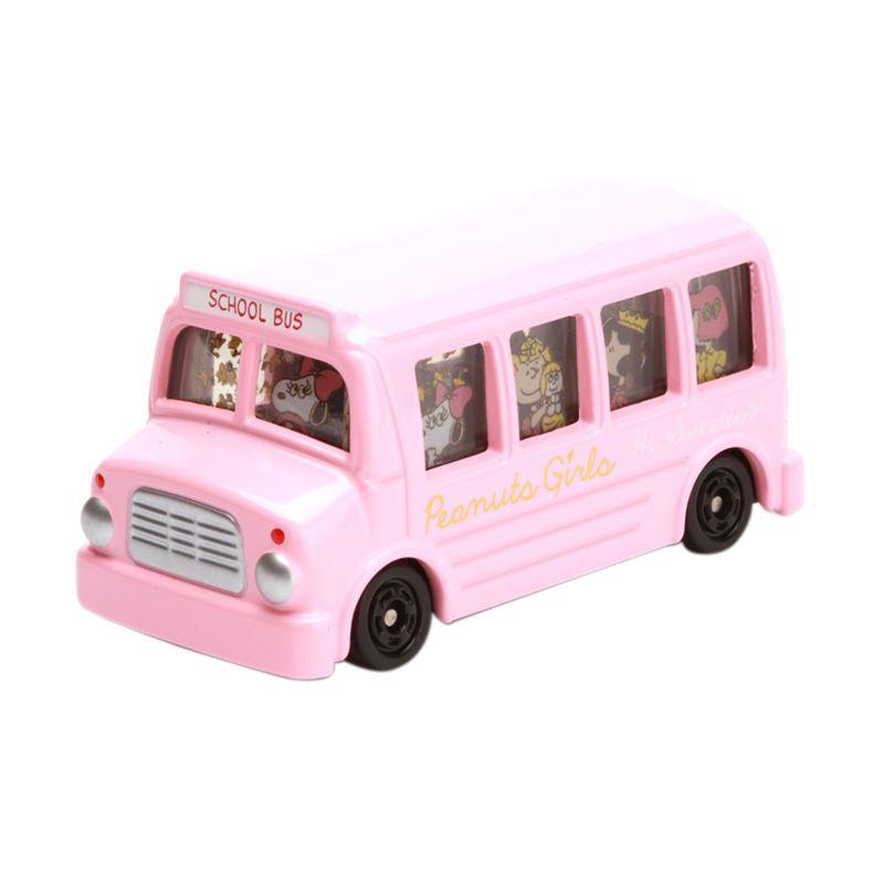 Tomica Peanuts Girls Bus Pink Diecast