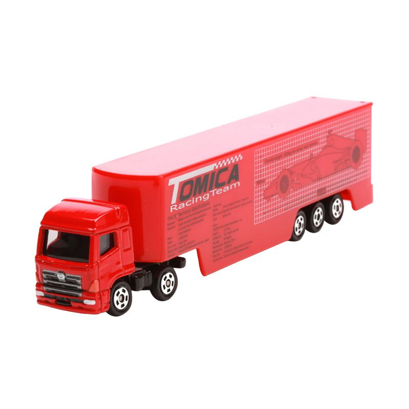 Tomica Racing Transporter Red Diecast