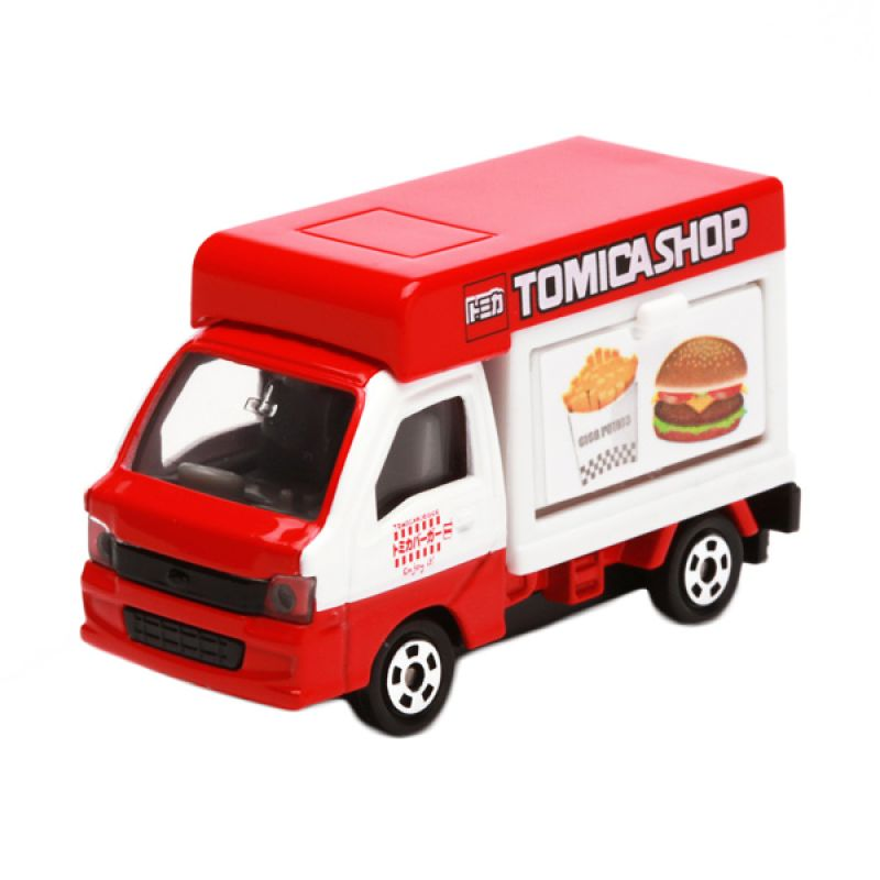 Tomica Subaru Sambar Mobile Sales Car Red Diecast