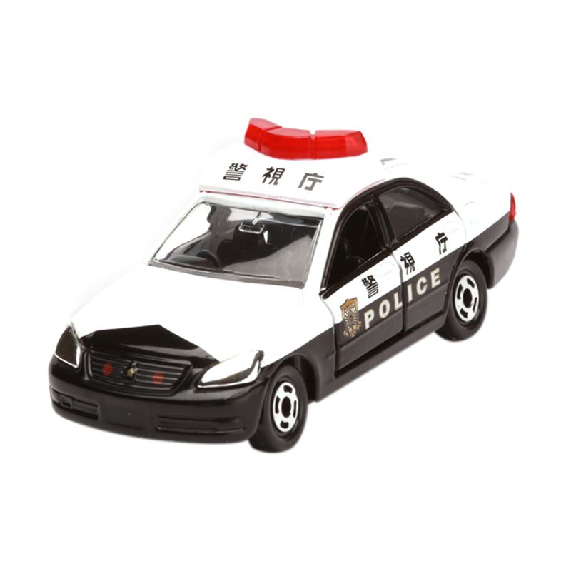 Tomica Toyota Crown Patrol Car White Diecast