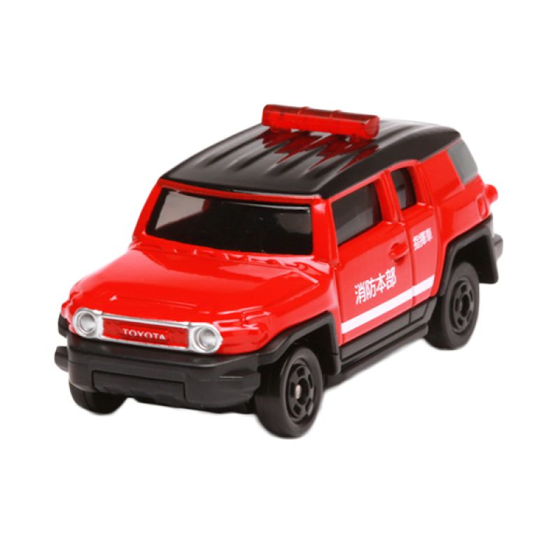 Tomica Toyota FJ Cruiser Fire Command Car Red Diecast