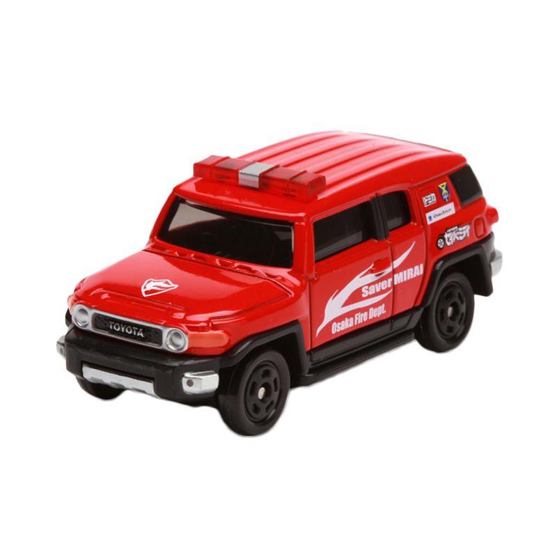 Tomica Toyota FJ Cruiser Osaka Fire Dept Saver Mirai Ver Red Diecast [1:64]