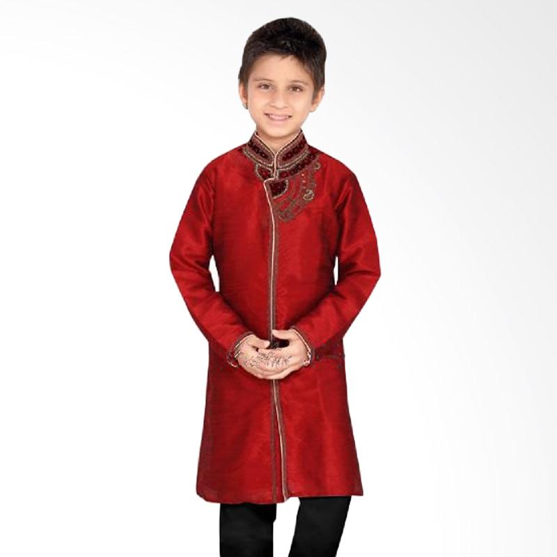 Jual LNice Koko Boys Atasan Red Set Pants Baju Koko Anak