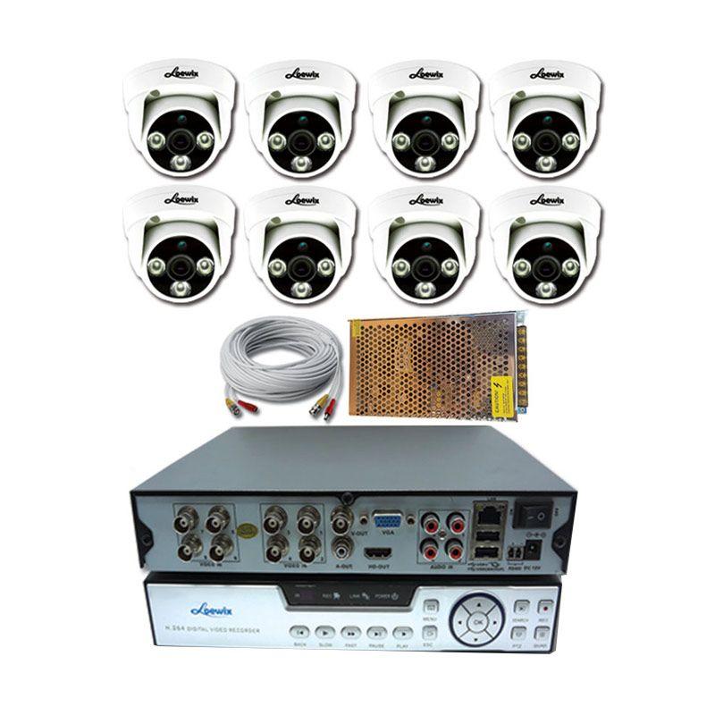 Loewix AHD Kamera CCTV [1.3 MP/8 Channel]
