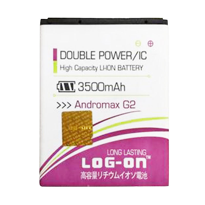 Log On Double Power Baterai for Smartfren Andromax G2 Qwerty [3000 mAh]