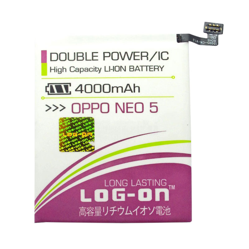 Log On Double Power Batery for Oppo Neo 5 [4000 mAh]
