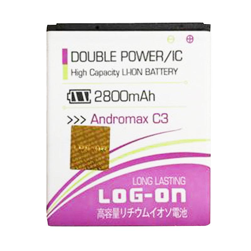 Log On Double Power Battery for Smartfren Andromax C3 [2800 mAh]