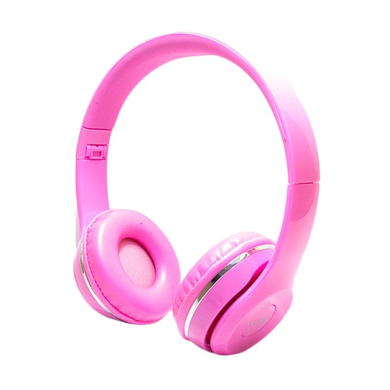 harga Log On LO-NB-B80 Bando Headset - Merah Muda Blibli.com