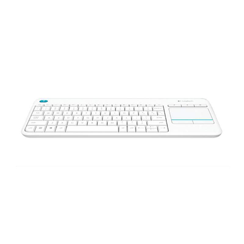 Logitech K400 Plus Wireless Touch Keyboard - Putih