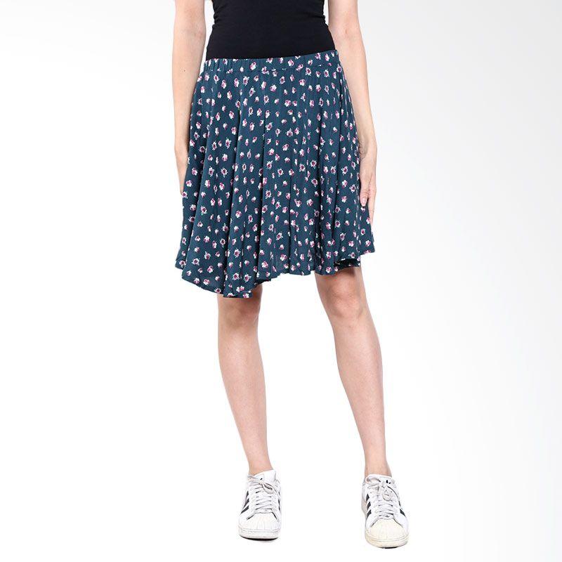 LOGO Alma Flower 52017L8GN Green Mini Skirt
