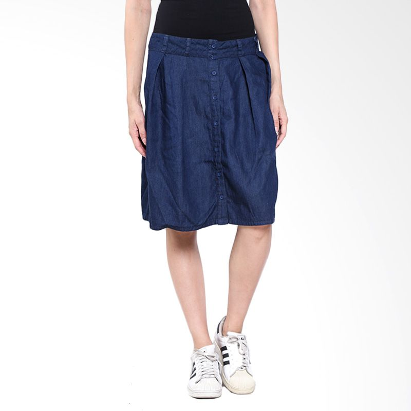 LOGO Olin Mini Chambray-51013L2DL Skirt - Dark Blue