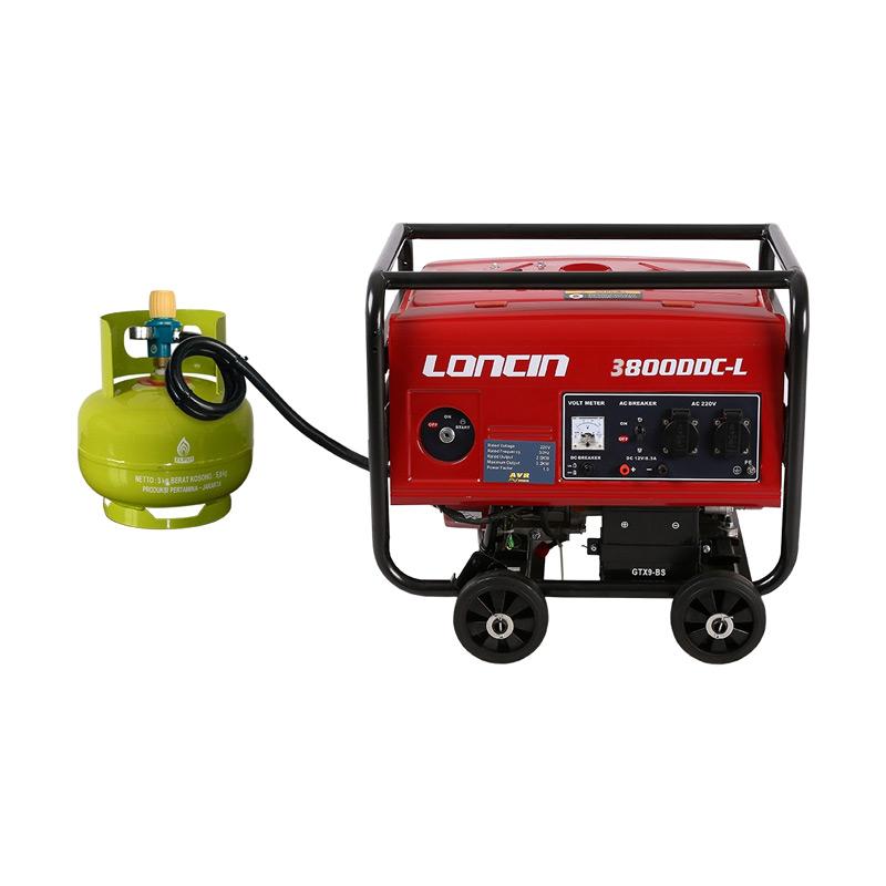 Loncin LC 3800 DDC-L Genset / Generator Set Gas LPG [2200 Watt]