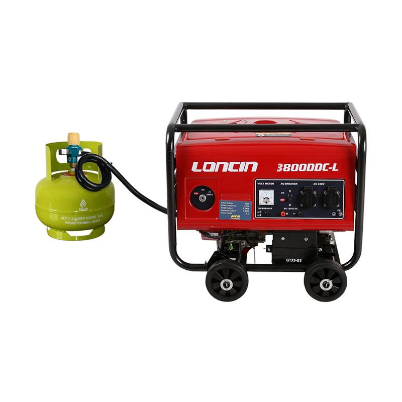 Loncin LC 4800 DDC-L Genset / Generator Set Gas LPG [2500 Watt]