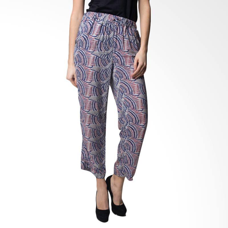 Loony Batik Grey Print Celana Panjang Wanita