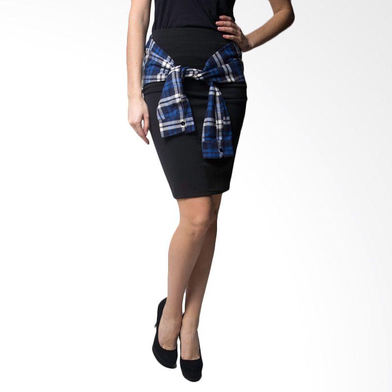 Loony Rope Sleeve Black Skirt