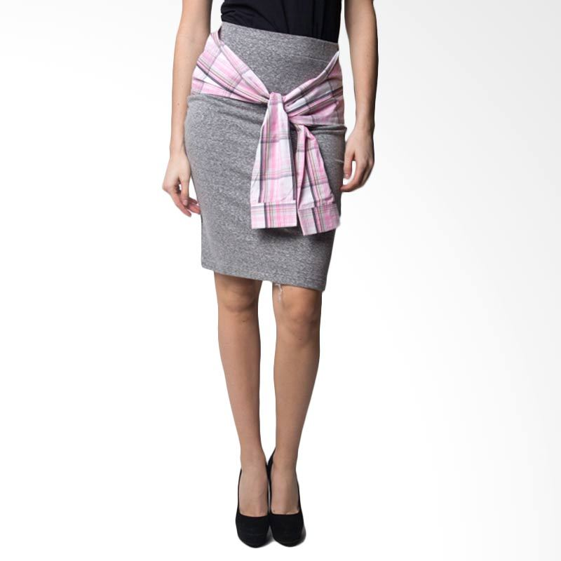 Loony Square Pink Grey Skirt
