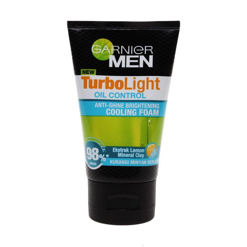 Garnier Men Turbolight Oil Control Foam Sabun Wajah [100 mL]