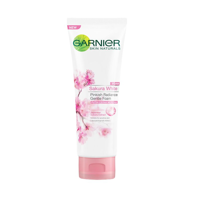 Garnier Sakura White Pinkish Radiance Gentle Foam Sabun Wajah [100 mL]